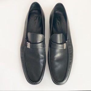 Salvatore Ferragamo Men's Black Leather Loafers 13